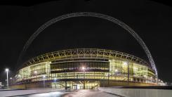 Wembley Stadium - Wembley Stadium and its iconic arch at night